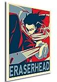 "Poster My Hero Academia ""Propaganda"" Eraserhead - Formato A3 (42x30 cm)"
