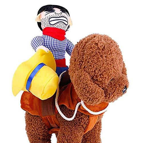 Haustier Hunde Reiten Kostüm Neuheit Lustige Cowboy Halloween Kostüm Kleidung, Hutmodelle,L