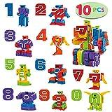 JOYIN 10 Piezas Bots Juguetes Bloques de Construcción Educativos Número de Robot para Niños