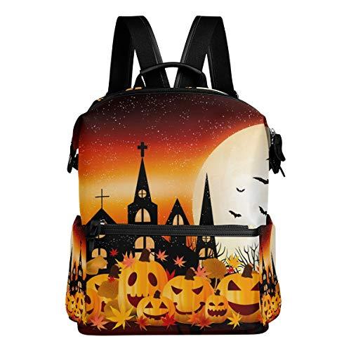 rbst vollmond Halloween kürbis Fledermaus Reise kindertagesstätte perfekt für die Schule für Teen Boys Girls ()
