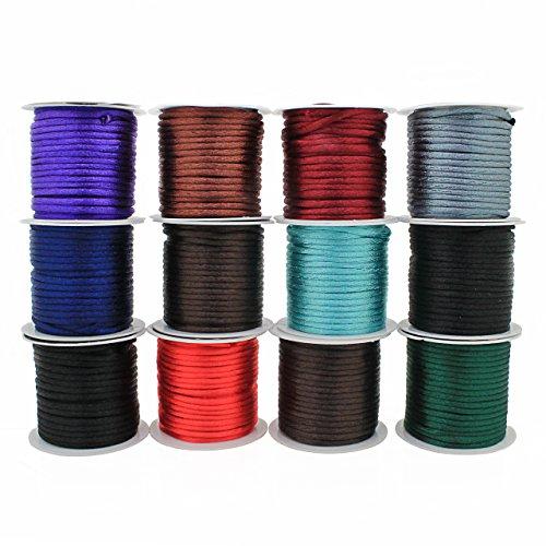 RUBY - 12 rollos colores 4 metros Ø 2 mm cada rollo