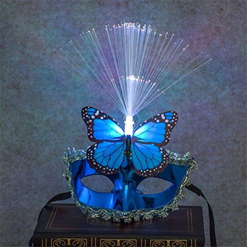 Halloween Urlaub Cosplay Maske Regen Spitze Galvanik Schmetterling mit LED-Licht Kinder Festival für Party Masquerade Abend Prom Mardi Gras Mask
