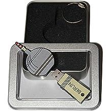 Souvenir Berlin | Geschenkidee: USB-Stick mit Schlüsselanhänger in der Form Berliner Fernsehturm für Frauen & Männer | inklusive Fotogalerie von Berliner Sehenswürdigkeiten | Memory Stick 16 GB | CultourStix
