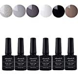 Annabelle UV Nagellack Soak Off UV Gel Nagellack Nail Art Top Coat Base Coat (7.3ml/pc Lot de 6) 007