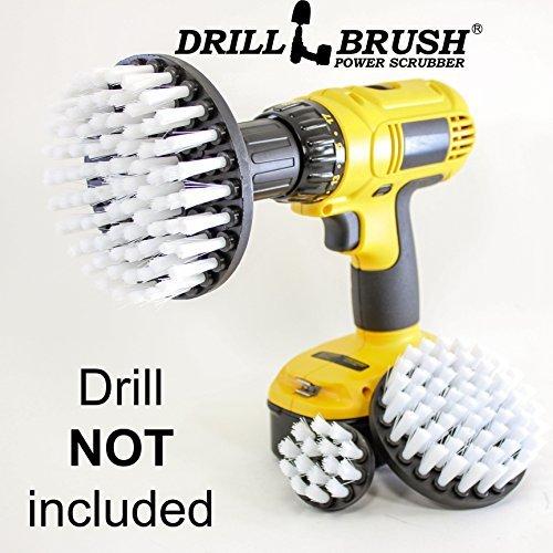Drillbrush Nuevo cambio rápido eje 3 Pack blanco