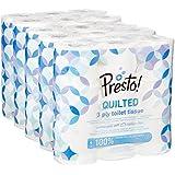 Papel higiénico Presto!- 3 CAPAS acolchado - 45 rolls