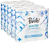 Amazon Brand -  Presto! 3 Ply Toilet Tissues – QUILTED