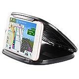 MANCRO Handy-Halter für Auto, GPS-Halter für Auto, Universal-Armaturenbrett-Telefon-Halter,Fahrzeug-Telefon-Halterungen mit waschbaren Wiege Silikon-Pads Passt 3-6,8 Zoll Smartphones und GPS