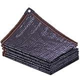 Senza marchio DANDAN Rete Parasole 95% Crema Solare Anti-età Crema Solare Ombra Casa/Auto/Giardino Protezione Solare Quattro Linee Rinforzo Ago Piatto Nero (Size : 6 * 6m)