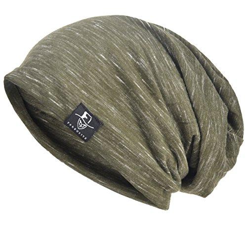 Herren Slouch Hollow Mütze Thin Sommer Cap Strickmützen Beanie Skullcap (Multi-Grün)