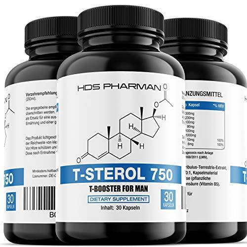 51dg907L50L - T-Sterol 750 - Testo-Booster Komplex/Testosteron Tabletten - Hochdosiert - Muskelaufbau Kapseln Germany