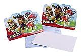 16-teiliges Einladungskarten-Set * PAW PATROL * für Geburtstagsfeier oder Motto-Party // mit 8 Einladungen und 8 Umschlägen // Kinder Geburtstag Party Invitations Motto Hund Nickelodeon