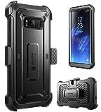Etui SUPCASE pour Galaxy S8+ Plus (2017) [Serie Unicorn Beetle Pro] Housse protective avec conception double couche avec protecteur d'ecran integre et un clip ceinture (noir/noir)