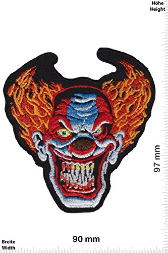 - ES - Scary Clown HQ Oldschool - Rockabilly - Movie Game Patch - Cartoon - Comic - Patches - Aufnäher Embleme Bügelbild Aufbügler - Costume (Scary Movie Clown)