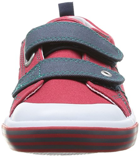 Start Rite Team, Baskets mode garçon Rouge (Red Canvas)