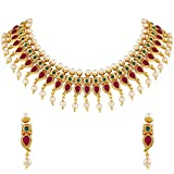 Best Choker Necklace Prime - Asmitta Traditional Kuiri Shape Gold Plated Choker Style Review
