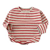 Search : Kids Tops Unisex Baby Long Sleeve T-Shirt Striped Soft Jumper Toddler Pullover