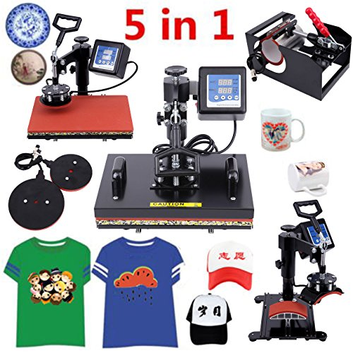 Ridgeyard 5 in 1 Heat Press Machine Digital Transfer