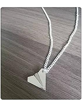 Papier Flugzeug Flugzeug Design Charm Halskette