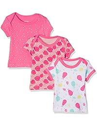 Care Camiseta Bebé-Niñas, Pack de 3