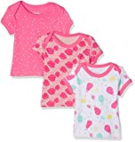Care Baby-Mädchen T-Shirt Bane, 3er Pack, Mehrfarbig (Camellia Rose 531), 104