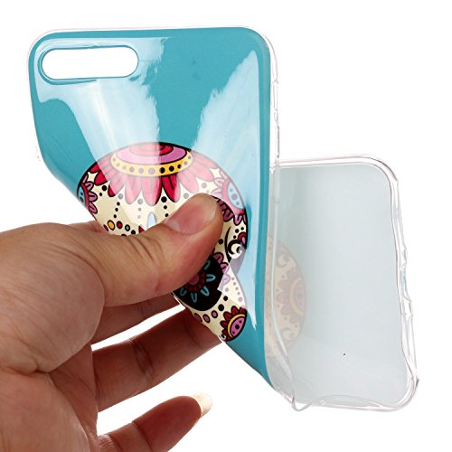 Custodia iPhone 7 / 8 Plus - Cover in Silicone TPU - Surakey iPhone 7 Plus Custodia Slim Ultra Sottile Gomma Morbida Gel Case Frasi 3D Modello di Colorate Antigraffio Antiurto Protezione Posteriore Ca Modello#11