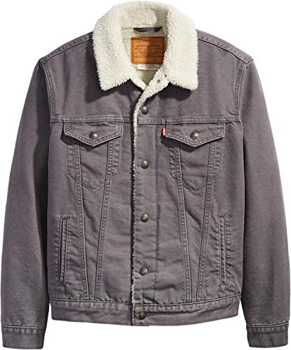 Levi's Red Tab Type 3 Canvas Sherpa Jacket MEDIUM Magnet Grey