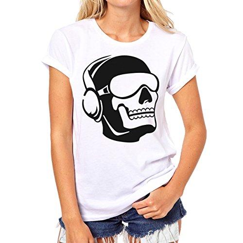 Call Of Duty Black Ops 3 Ghost Skull Damen T-Shirt Weiß