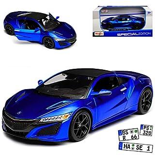 Maisto Honda Acura NSX Coupe Blau Modell Ab 2016 1/24 Modell Auto