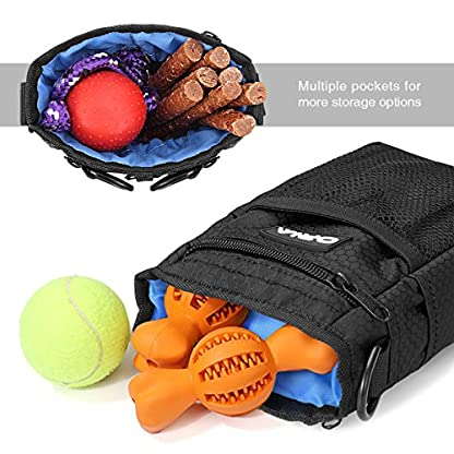 ORIA Dog Treats Bag, Dog Treat Training Pouch with Poop Waste Bag Dispenser, Training Clicker and Collapsible Travel Pet… 4