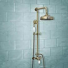 ENKI grifo mezclador termostática set ducha telescópic bronce traditional grande