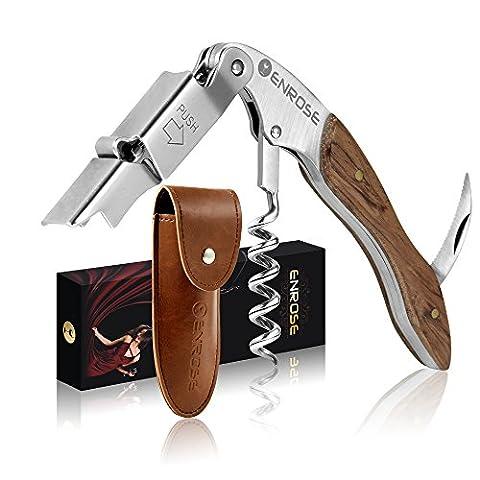 ENROSE Tire-Bouchon Professionnel & Décapsuleur - Couteaux de Sommelier -