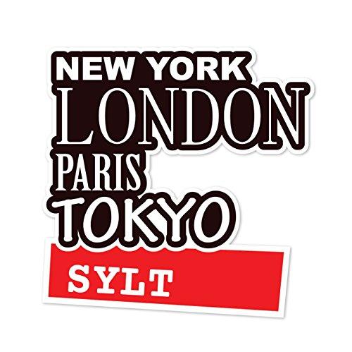 Preisvergleich Produktbild JOllify Aufkleber - SYLT – Farbe: Design: New York, London, Paris, Tokyo