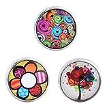 Morella® Damen Click-Button Set 3 Stück Druckknöpfe Farbenfroh