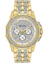 Bulova Men's Analog-Quartz Watch with Stainless-Steel Strap 98C126