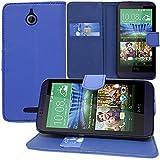 HTC Desire 510 Étui HCN PHONE Housse Portefeuille Etui Clapet Folio Livre Rabat Support Intégré pour HTC Desire 510 - BLEU FONCE
