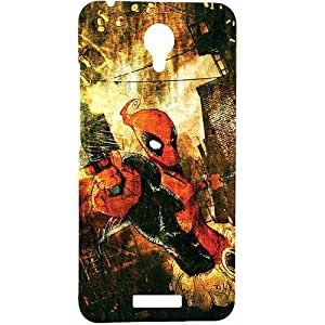 Casotec Spiderman Pattern Print Design Hard Back Case Cover for Micromax Canvas Spark Q380