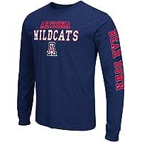 "Arizona Wildcats NCAA ""Game Changer"" Long Sleeve Dual Blend Men's T-Shirt Chemise"
