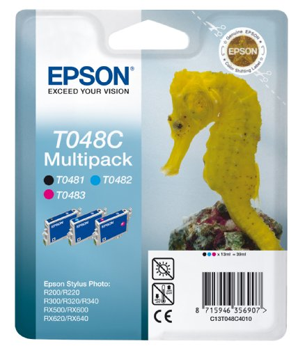 Preisvergleich Produktbild Epson T048C Tintenpatrone Seepferd, Multipack, 3-Farbig
