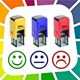 3Lehrer-Stempel [speziell für Kindergarten und Grundschule-Automatik-Stempelkissen für Smileys].