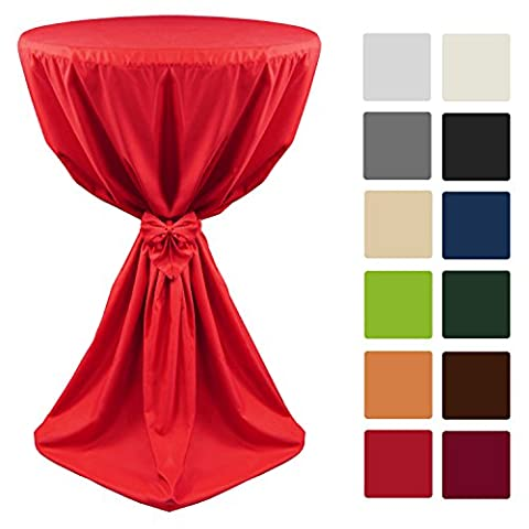 Beautissu Bistro Bar Slipcover Tablecloth GIULIA with Ribbon for Weddings