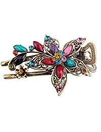 SODIAL(R) Mignon Vintage Bijoux Cristal Pinces a cheveux clips a cheveux- Pour cheveux Outils de beaute