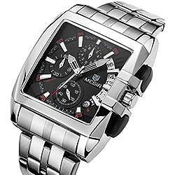 Mode Herrenuhren Quarzuhr Luxus Edelstahl Uhrenarmband Kleine Dekorative Zifferblatt Rechteck Analog Armbanduhren für Herren