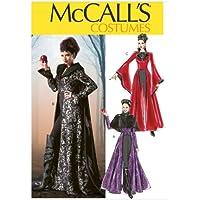 McCall's Patterns M6818 D5 - Patrón para disfraz de bruja para chica (tallas 20-50), color blanco