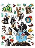 1art1 91456 Der Kleine Maulwurf - Happy Wand-Tattoo Aufkleber Poster-Sticker 85 x 65 cm