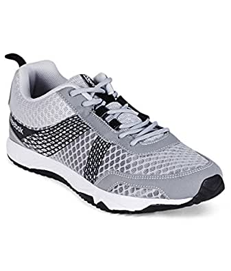 Reebok Men's Tempo Speed Lp Silver, Black and White Mesh Running Shoes - 10 UK