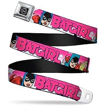 DC Comics Batman ceinture de ceinture BATGIRL lettres Motif bulles de BD-Rose/blanc-Taille unique