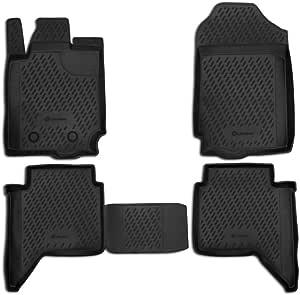 Element Exp Carfrd00005kh Passgenaue Premium Antirutsch Gummi Fußmatten Ford Ranger 4 Door Jahr 11 20 Schwarz Auto