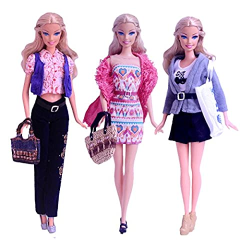 3 Sets Habillement de poupée pour Barbie (Type 3) / Belle tenue de mariage