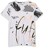 Garcia Kids Jungen T-Shirt P83613, Grau (White Melee 625), 128 (Herstellergröße: 128/134)